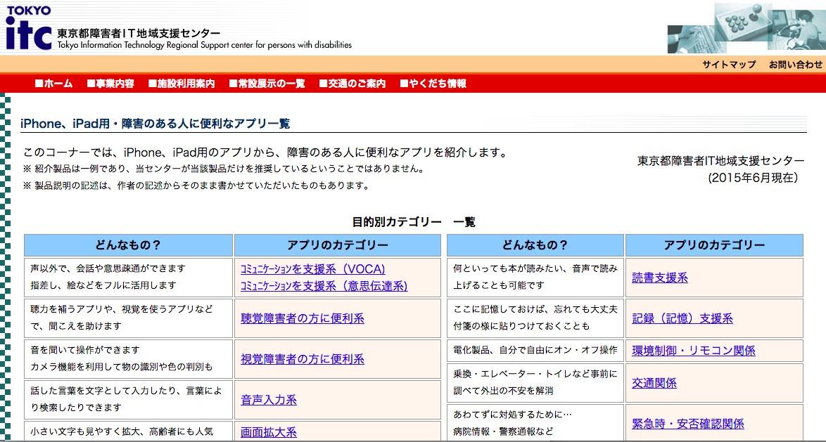 東京都障害者IT地域支援センター