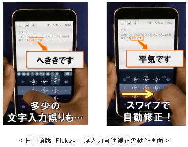 世界最速スマホ文字入力アプリ「Fleksy」の日本語版を開発!_~スワイプするだけで誤入力を自動補正~_2016年_株式会社KDDI研究所_-_2016-01-31_20.29.36