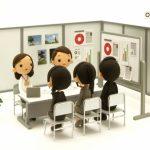 就職イベントの様子を粘土の人形で表現した画像。情報にもバリアフリーを。障がい者とその関係者のコミュニティ、情報サイト。ナレバリ