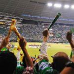 スポーツの応援で歓声を挙げて盛り上がっているファンの画像。情報にもバリアフリーを。障がい者とその関係者のコミュニティ、情報サイト。ナレバリ